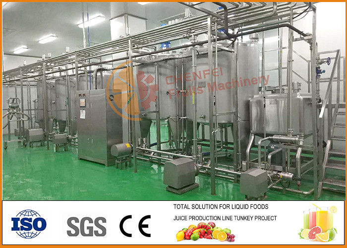 SS304 Professional dairy and beverage Blending and filling line