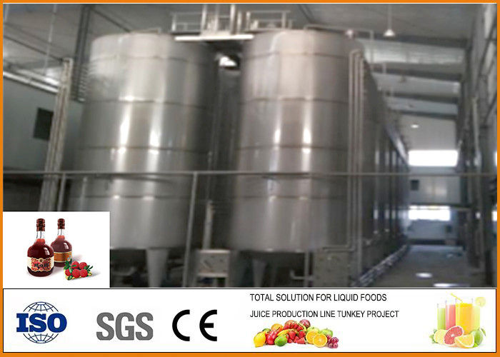 Small Waxberry Fruit Wine Processing Plant SS304 Material With PLC Control System